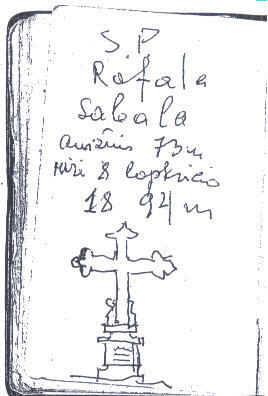 ÅilutÄ—s Juozo Sabalio pieÅinys SvÄ—dasų kapinÄ—se